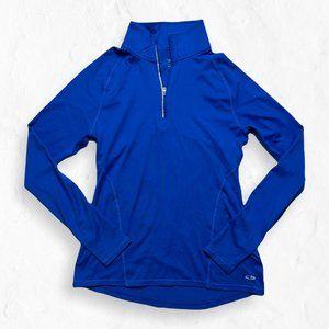 C9 by Champion Cobalt Blue Long Sleeve 1/4 Zip Neck Running Top S
